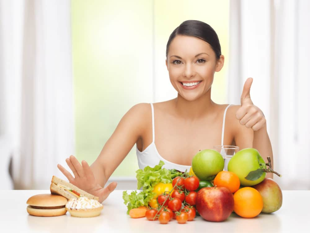 10 Consejos para reducir la pancita: 3-No dejes de comer saludable