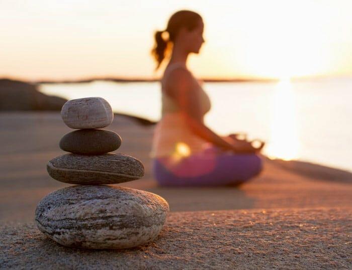 10 Consejos para reducir la pancita: 5-Meditación