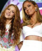 Shakira y JLo rueda de prensa del Super Bowl