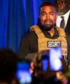 Kanye West llora en reunion de campaña