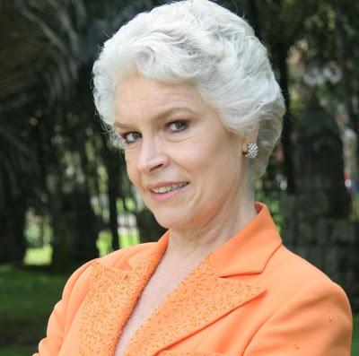 María Margaríta Giraldo actriz que interpretó a Raquel Uribe