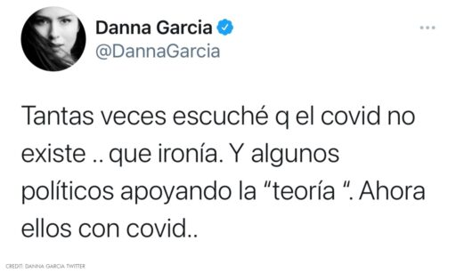 Danna García Reaccionó a que Amlo tiene coronavirus