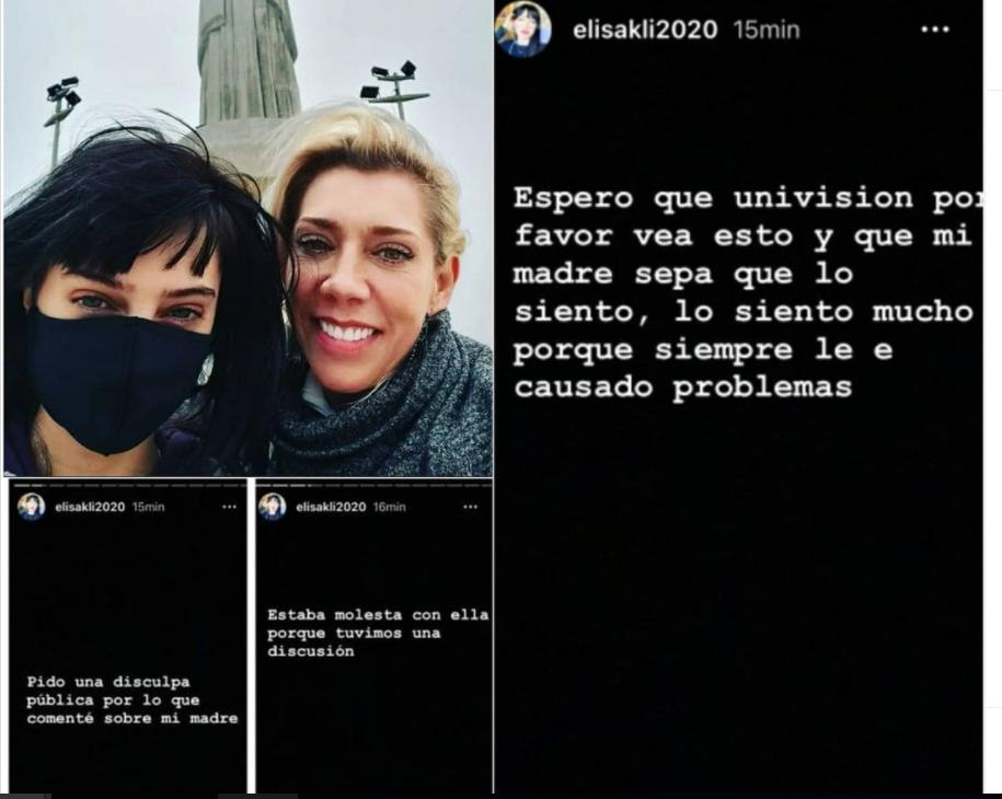 elisa Klitbo pide perdón a su madre Cynthia